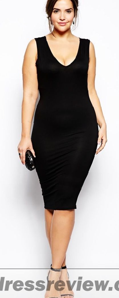 Black Bodycon Plus Size Dress And Trend 2017-2018