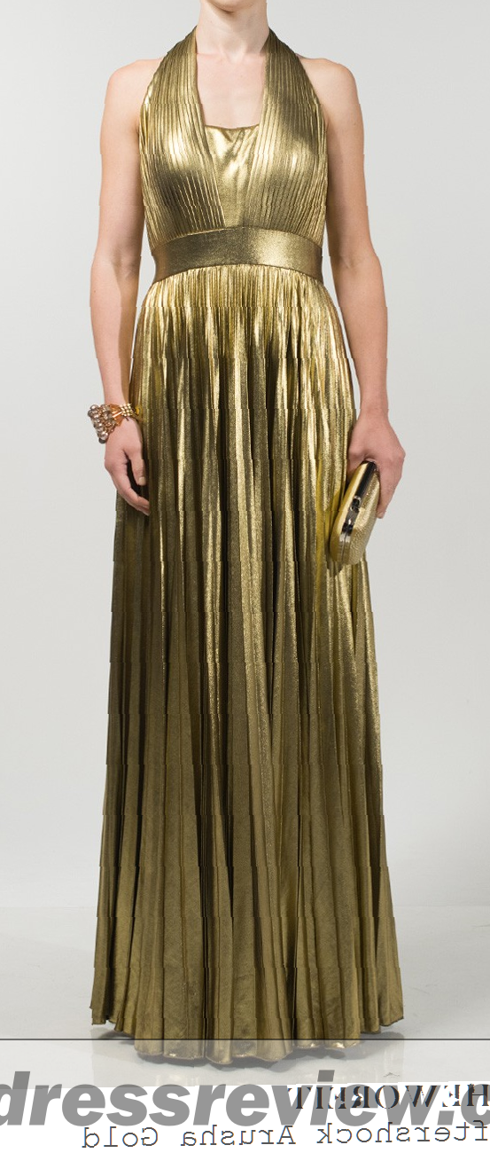 Gold Metallic Gown : Always In Vogue 2017