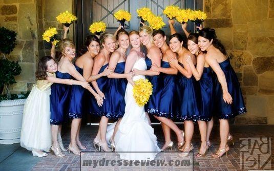 Metallic Blue Bridesmaid Dresses New Trend 2017 2018