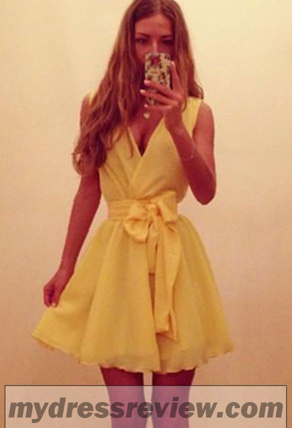 Yellow Dress With Bow - Different Occasions