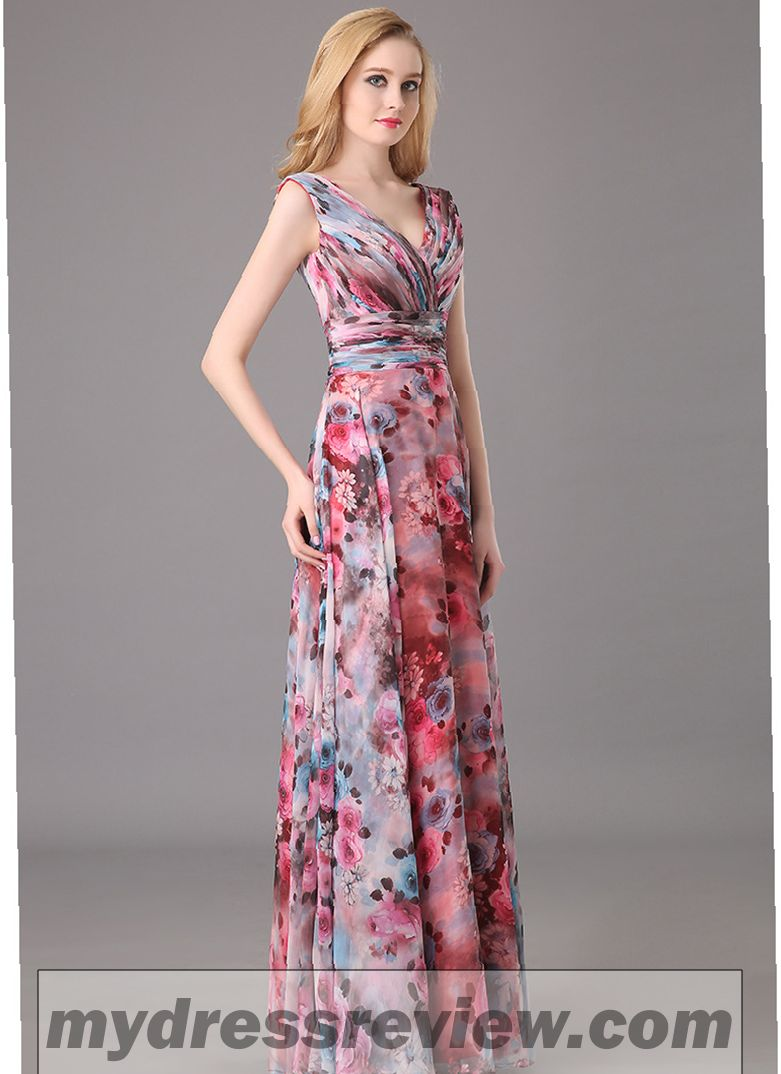 Floral Print Floor Length Dress : Make Your Life Special