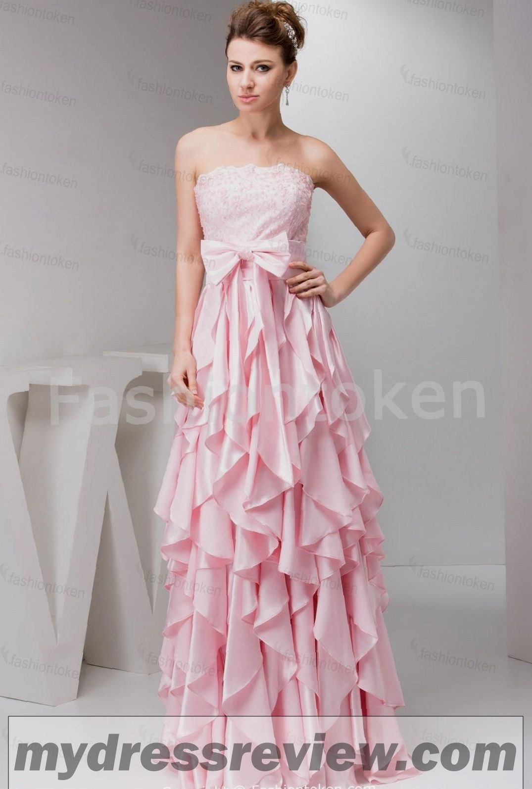 Light Pink Floor Length Dress - Different Occasions