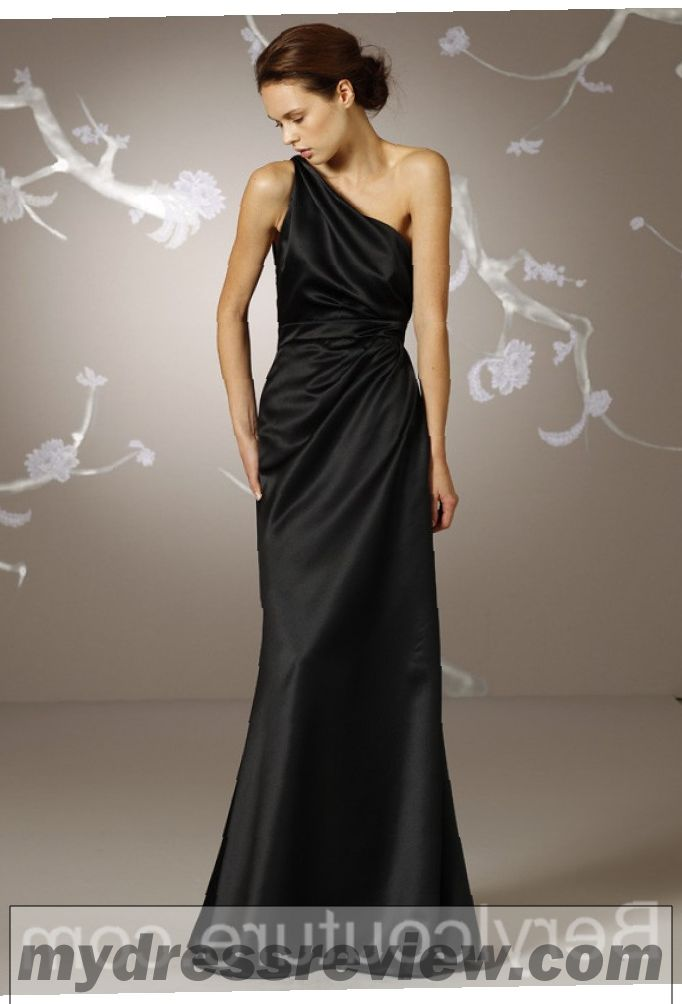 Long Black Satin Bridesmaid Dresses And Popular Styles 2017