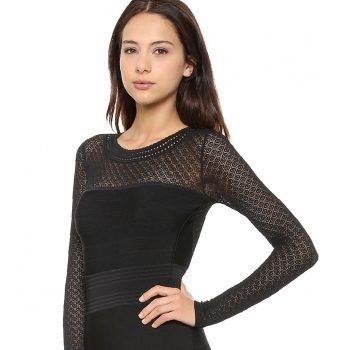 black-dress-with-flared-sleeves-and-clothing-brand