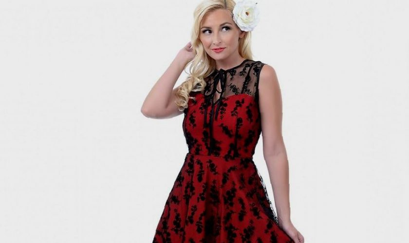 black-lace-red-dress-be-beautiful-and-chic