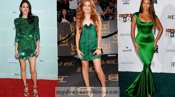 emerald-green-dress-and-accessories-make-you-look