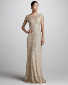 Gold Metallic Long Dress