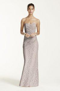 gold metallic bridesmaid dresses