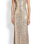 gold sequin long dresses