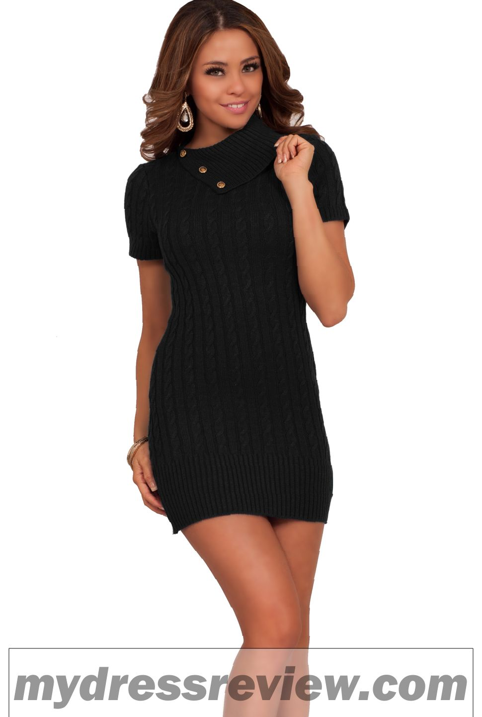 Fitted Short Sleeve Dress : Review 2017