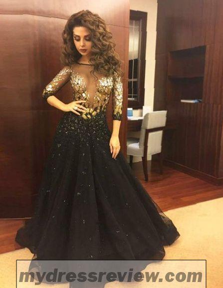 16c9b059d3b Long Gold And Black Dress   Trend 2017-2018 - MyDressReview