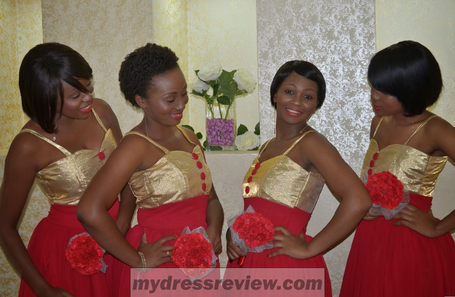 Red and gold wedding bridesmaid dresses look like a princess red and gold wedding bridesmaid dresses look like a princess 2017 ombrellifo Choice Image