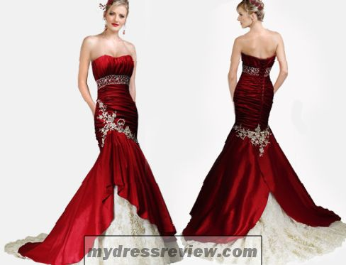 Red And Gold Wedding Bridesmaid Dresses - Look Like A Princess ...