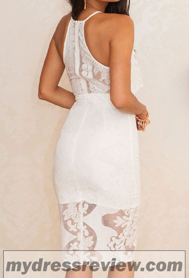 White Lace Two Piece Bodycon Midi Dress : Trend 2017-2018