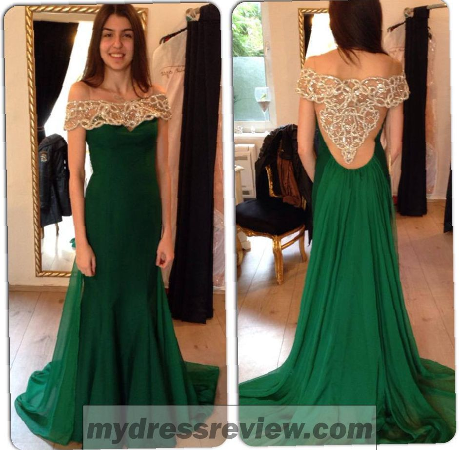 Dark Green Off The Shoulder Dress - Clothes Review