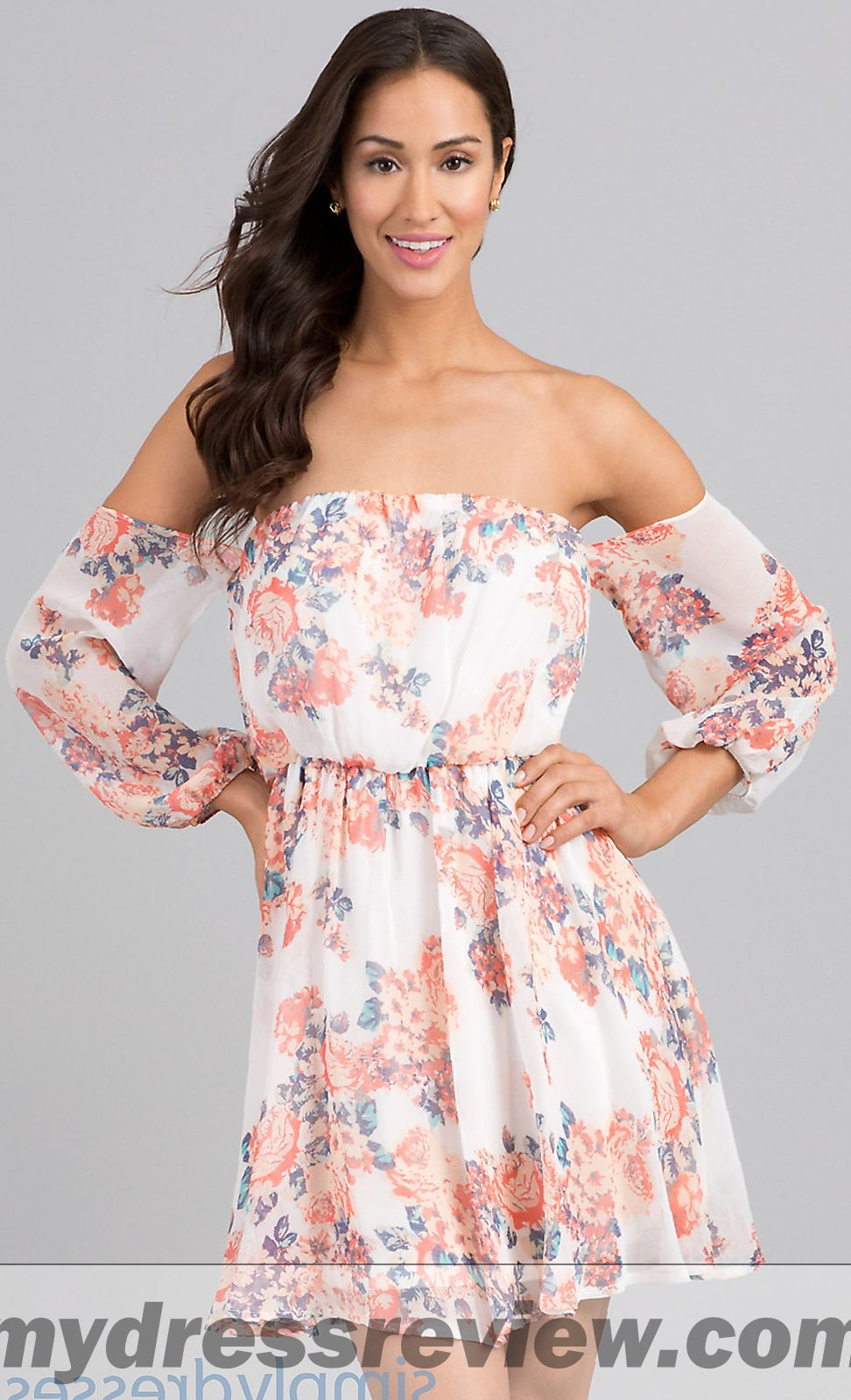 Floral Print Off The Shoulder Dress And Top 10 Ideas