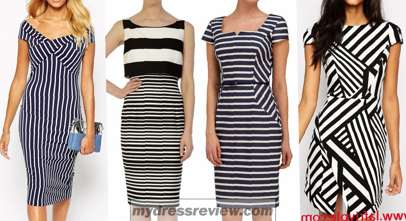 Off The Shoulder Black And White Striped Dress & Clothing Brand Reviews