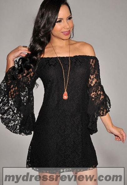 Off The Shoulder Black Long Sleeve Dress & Fashion Outlet Review