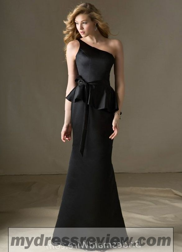 03d1e7cbe6a One Shoulder Black Bridesmaid Dress   Fashion Outlet Review ...