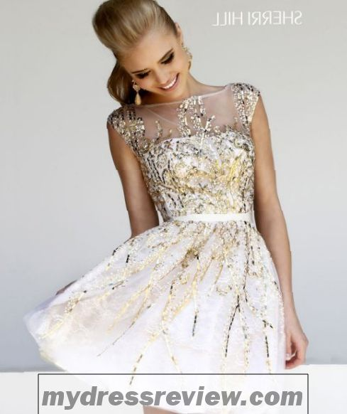 Gold Short Formal Dresses
