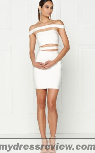 White Off The Shoulder Bandage Dress : Review 2017
