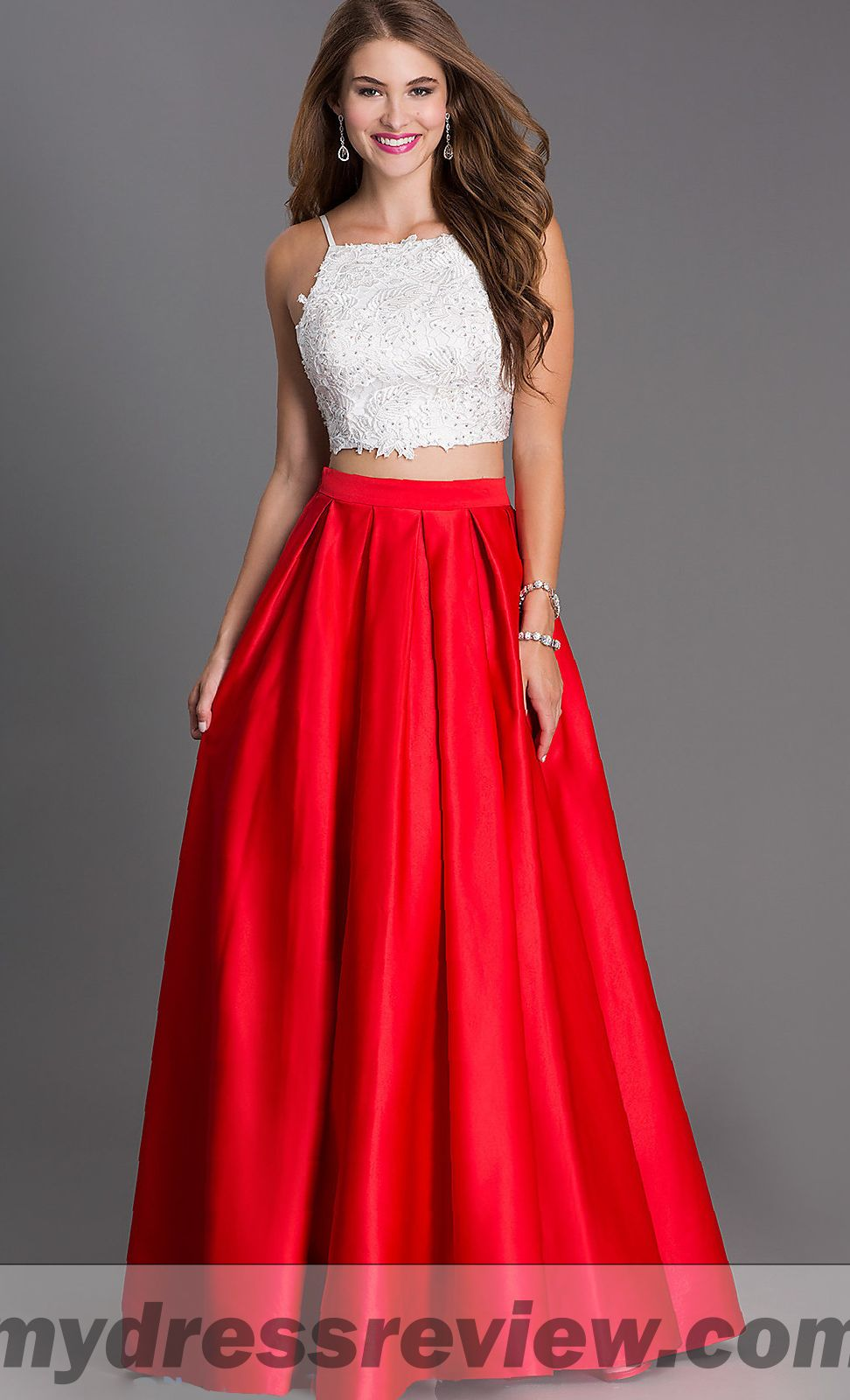 Two Piece Long Prom Dresses 2018 85