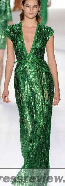 Emerald Green Sequin Gown - Review Clothing Brand