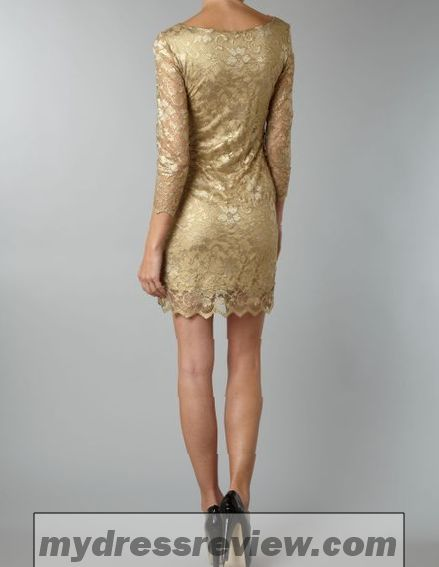 Gold Metallic Long Dress And Style 2017-2018