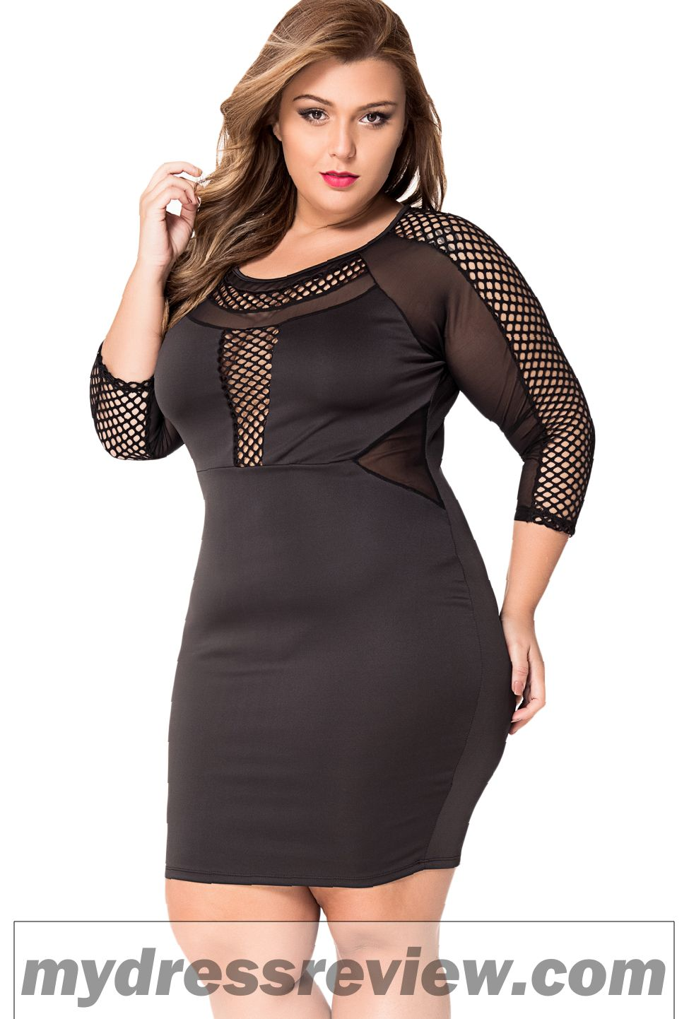 Long Sleeve Plus Size Bodycon Dress Fashion Show Collection