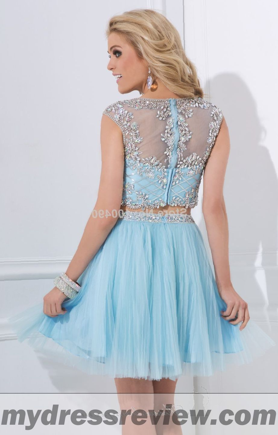 Orange Two Piece Prom Dress And Make Your Evening Special ...