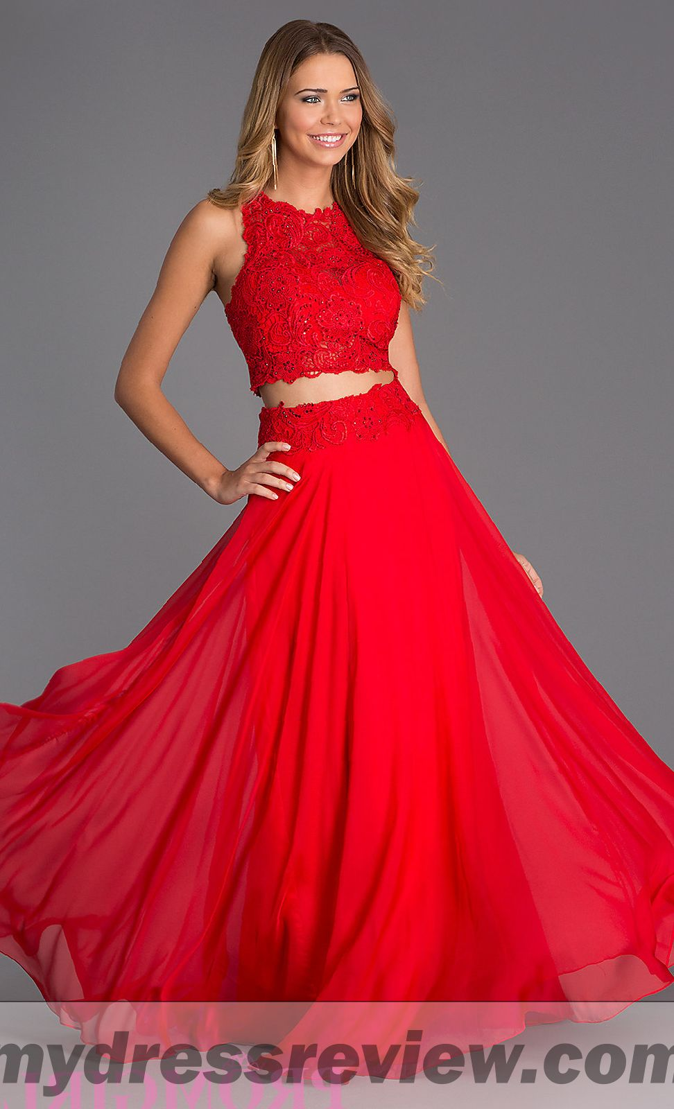 Red And Black Two Piece Prom Dress And Review 2017 ...