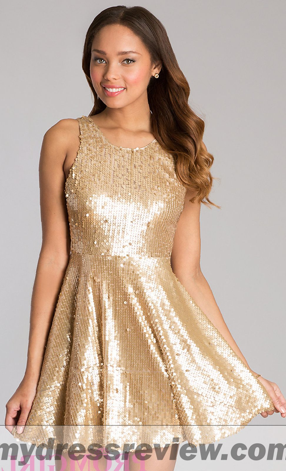 Short Sparkly Gold Dress & Choice 2017