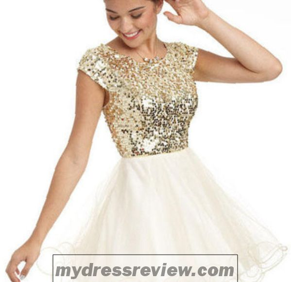 Short Sparkly Gold Dress & Choice 2017 - MyDressReview