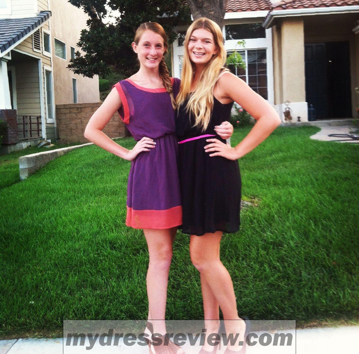 Teen boys in prom dresses