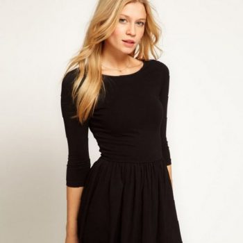 black-flare-dress-with-sleeves-a-wonderful-start