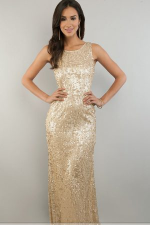 gold-metallic-long-dress-and-style-2017-2018