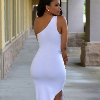 white-one-shoulder-bodycon-dress-make-your-life