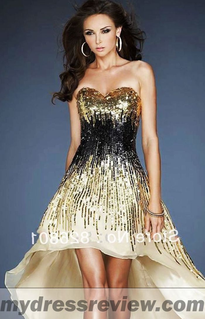 Short Black And Gold Prom Dresses Always In Vogue 2017